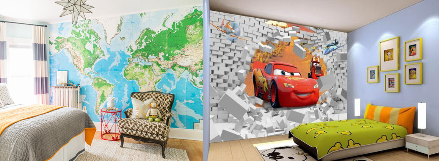 You can really go wild with wallpaper in a child's room. This is where  bright color, fantastic design and pure creativity can come together to  create a fun ...